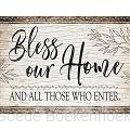 BLESS OUR HOME 30X70CM SQUARE DRILL