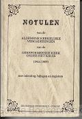 NOTULEN ALGEMENE KERKELIJKE 1844 -1869